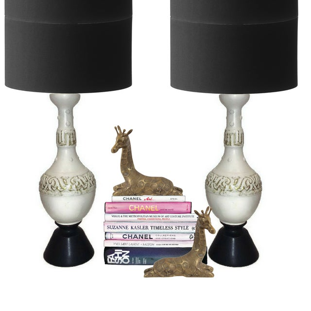 Vintage Hollywood Regency Console Lamps Modern - a Pair - Image 2 of 6