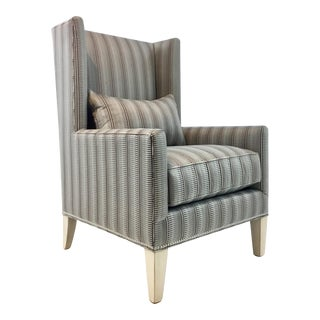 Drexel Heritage Modern Wingback Chair For Sale