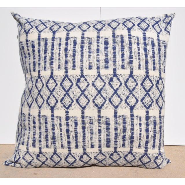"Boho Chic Batik Hmong Pillow - 24"" x 24"" For Sale - Image 3 of 3"