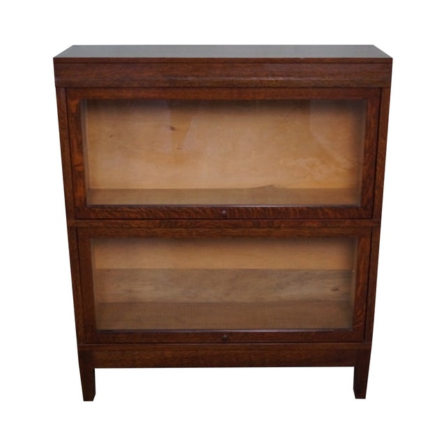 Globe Wernicke Antique Oak Two Section Bookcase - Image 1 of 10