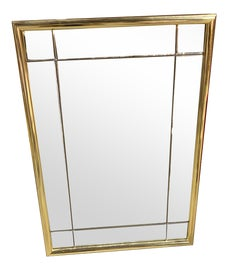 Image of Brass Mantel and Fireplace Mirrors