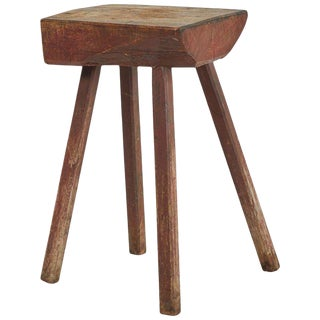 Rustic Wood Side Table For Sale