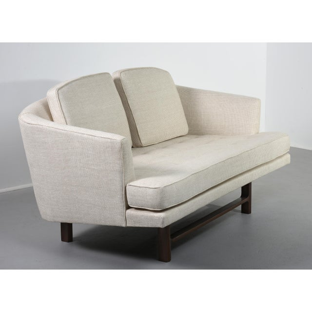 Edward Wormley for Dunbar Settee With Mahogany Base, Circa 1956 For Sale - Image 10 of 10