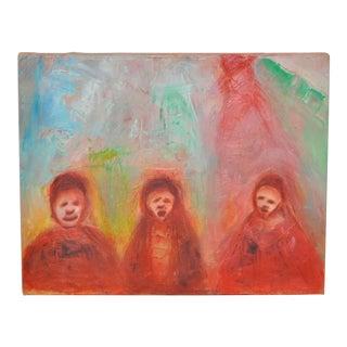 "Arthur J. Krakower ""Sunday"" Original Oil Painting C.2000 For Sale"