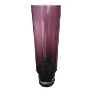 Makora Crystal Art Glass Tall Vase For Sale