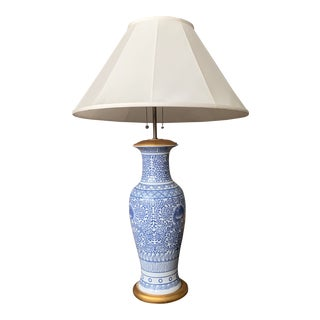 Ralph Lauren Chinoiserie Porcelain Accent Lamp For Sale