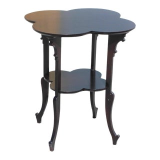 1940s French Art Deco Dark Mahogany Two-Tier Side Table For Sale