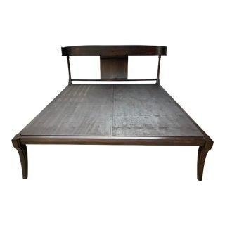 Mid Century Modern Klismos Style Queen Bedframe For Sale