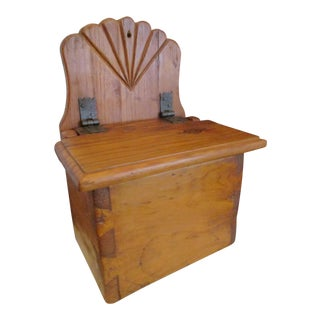 19th Century Primitive Dovetailed Slant Lid Pine Candle Box For Sale