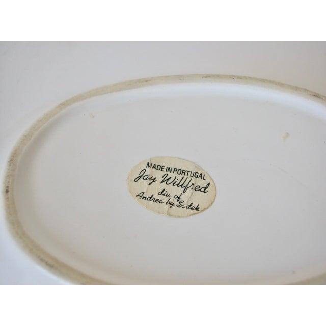 1970s Traditional Majolica Braided Lemon Ceramic Dish For Sale - Image 9 of 10