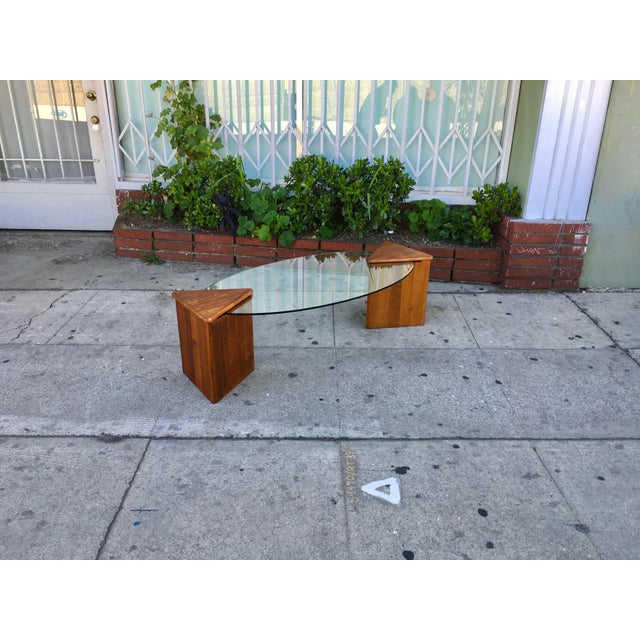 Oval Glass Top Coffee Table - Image 4 of 7
