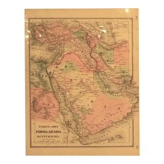1865 Persia Arabia & Egypt Map For Sale