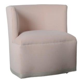 Petite Barrel Back Swivel Chair For Sale