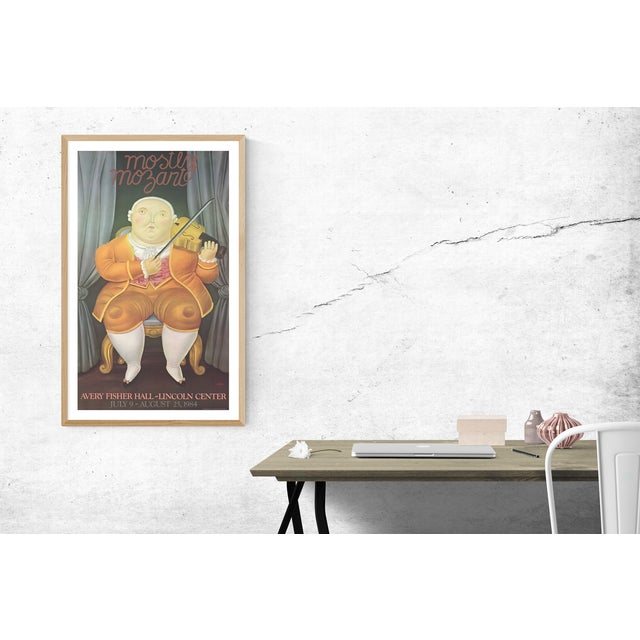 "Offered is a poster titled ""Mostly Mozart"" by Fernando Botero. Artist: Fernando Botero Title: Mostly Mozart Year: 1984..."