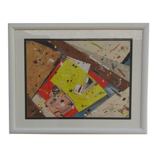 1970s Original Greenstein Action Painting, Framed For Sale