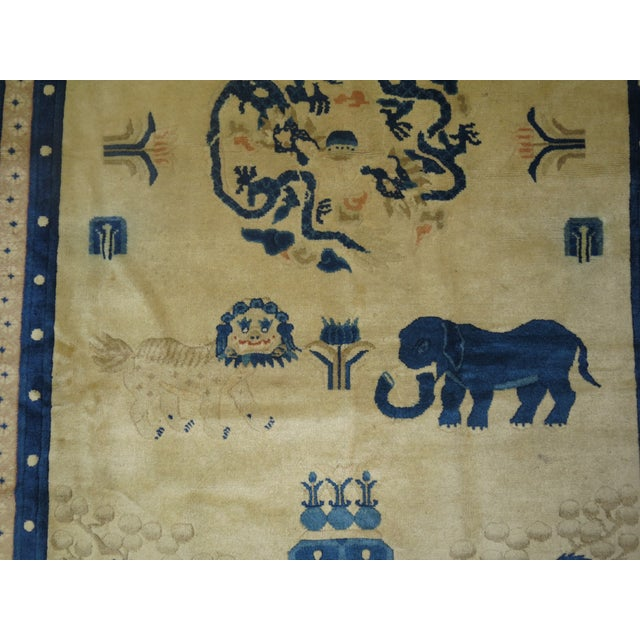 Antique Chinese Pictorial Elephant Rug, 4'9'' X 7'8'' For Sale In New York - Image 6 of 13