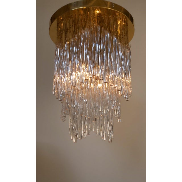Mid-Century Modern Vintage Mid-Century Murano Glass Chandelier Fixture For Sale - Image 3 of 11