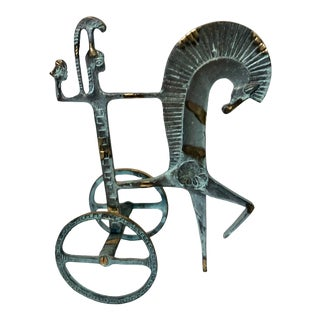 1960s Fredrick Weinberg / Raymor Etruscan Horse & Chariot For Sale