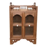 Image of Antique British Colonial Spindle Cabinet For Sale