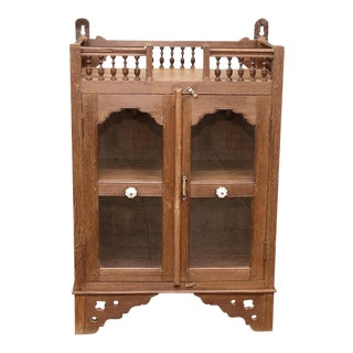 Antique British Colonial Spindle Cabinet For Sale