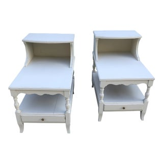 Vintage Step Down Tables - a Pair For Sale