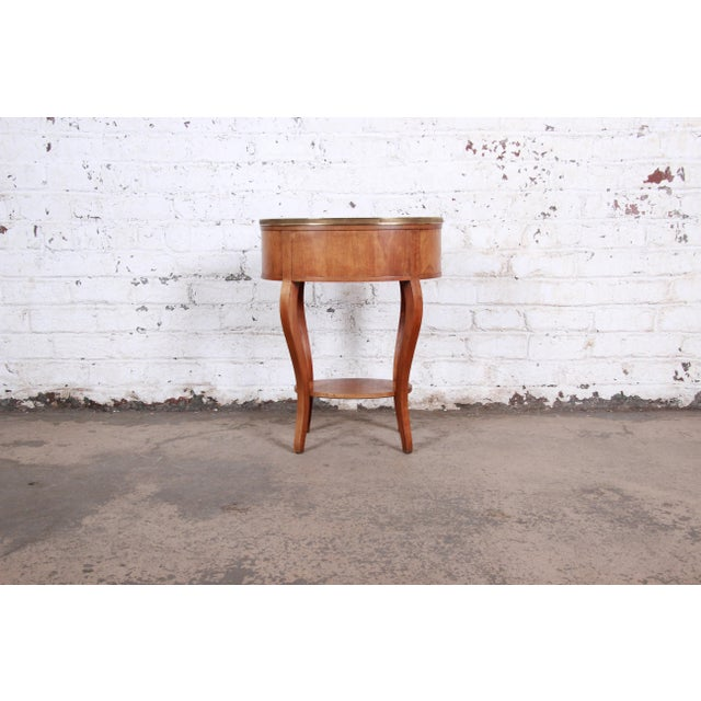 Baker Furniture French Regency Mahogany and Brass Side Table For Sale - Image 11 of 13