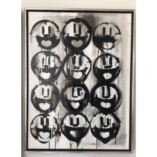 Madison Faile Twelve Faces Contemporary Artwork Acrylic on Canvas For Sale In Chicago - Image 6 of 6