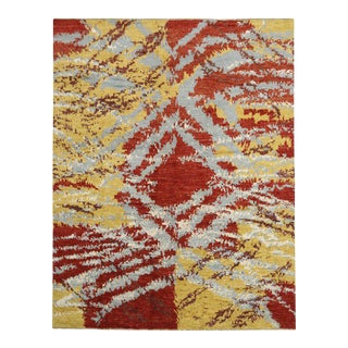 Contemporary Moroccan Rug With Abstract Expressionism Style - 12'3 X 15'8 For Sale