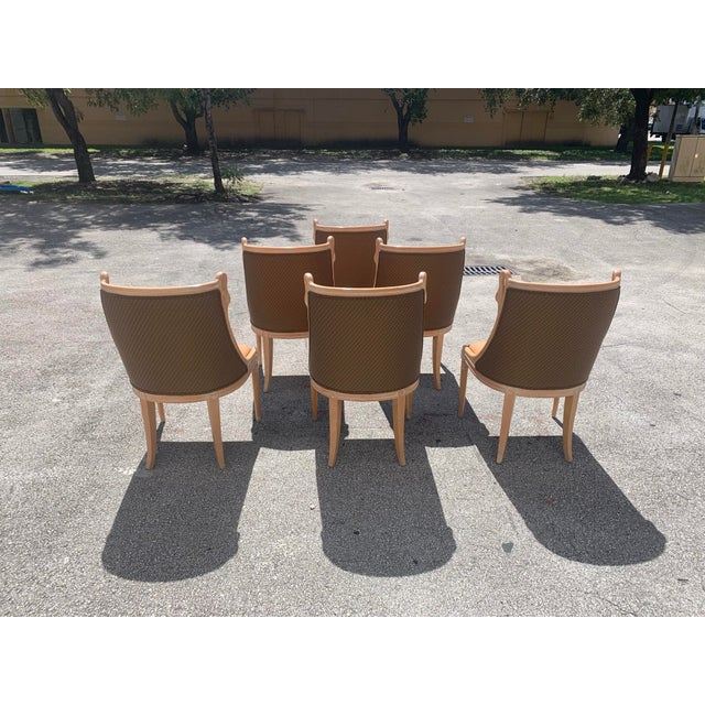 """Empire Mid-Century Modern """"Gondola"""" Swan Neck Dining Chairs - Set of 6 For Sale - Image 3 of 13"""