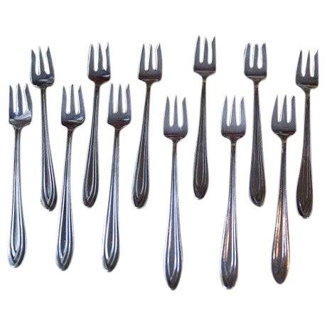 1847 Rogers Bros Fruit Forks - Set of 12 - Image 1 of 5