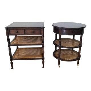 French Country / Hollywood Regency End Tables / Nightstands a Pair . For Sale