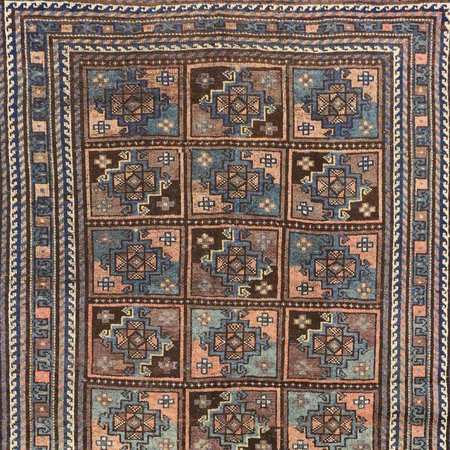 Vintage Shiraz Persian Rug with Mid-Century Modern Style For Sale - Image 5 of 8