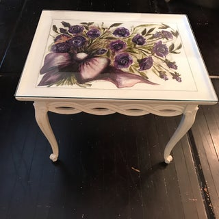 Vintage White & Purple Flowers Coffee Table Preview