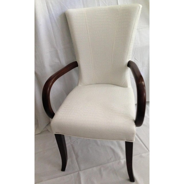 Faux Crocodile Leather Italian Accent Chairs - a Pair - Image 3 of 6