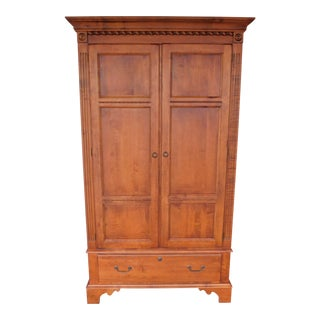 Ethan Allen Country Crossings Linen Press Armoire Cabinet 17-5415 For Sale