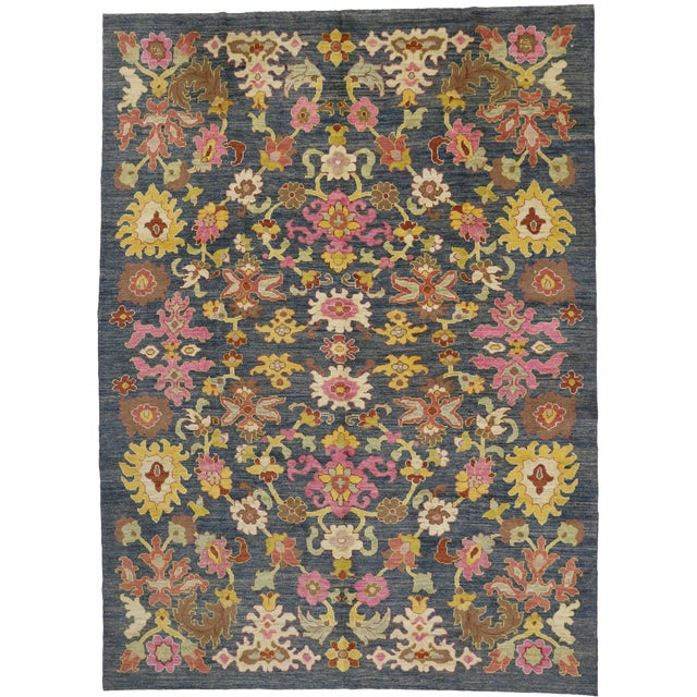 Contemporary Turkish Oushak Rug - 9′10″ × 13′5″ For Sale