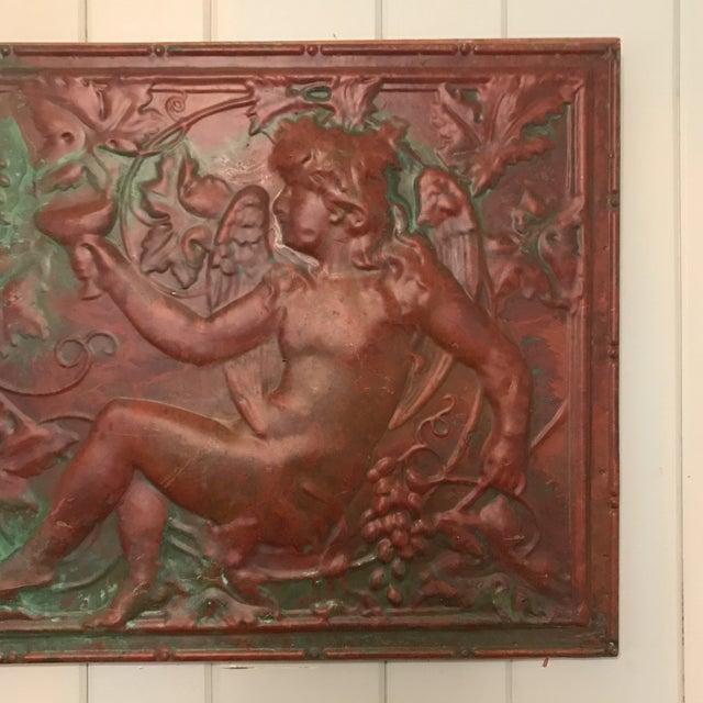 Victorian Victorian Copper Cherub Wall Panel For Sale - Image 3 of 11
