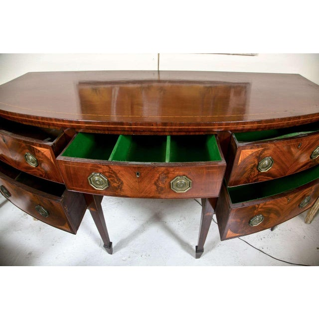 English Georgian Style Mahogany Sideboard - Image 6 of 9
