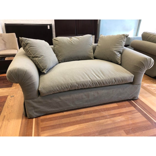 A. Rudin A.Rudin Rolled Arm Lounge Sofa For Sale - Image 4 of 13