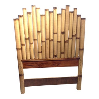 Boho Chic Pelican Reef Bamboo Twin Headboards For Sale
