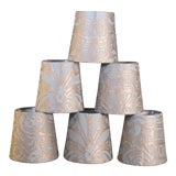 Image of Fortuny Campanelle Chandelier Shades - Set of 6 For Sale