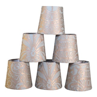 Fortuny Campanelle Chandelier Shades - Set of 6 For Sale