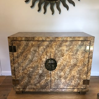 Faux Tortoise Shell Finish Cabinet by Henredon Preview