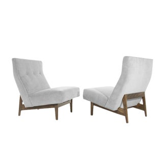 Classic Slipper Chairs by Jens Risom, Circa 1950s - a Pair For Sale
