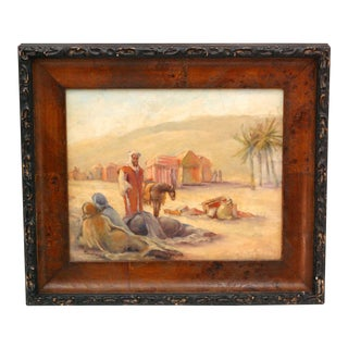 Early 20th Century Impressionist Nomadic Desert Oil Painting by Grace Ravlin For Sale