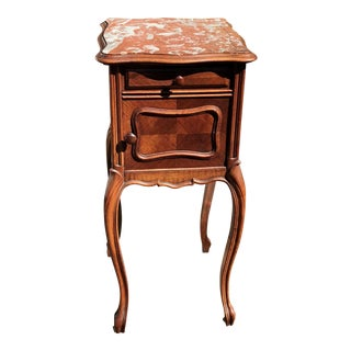 Antique French Provincial Marble Top End & Side Table