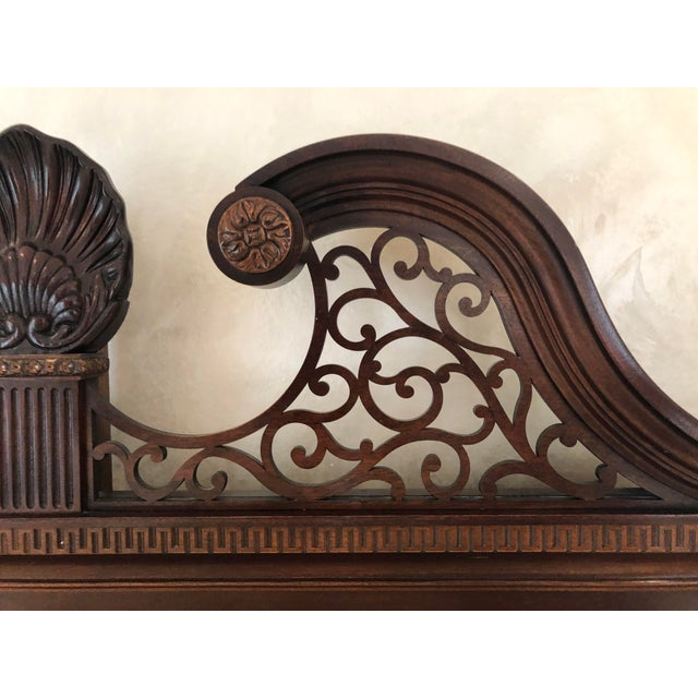 Very solid and heavy poster headboard manufactured by Century Furniture. It is quality made of beautiful mahogany with...