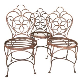 Star Back Iron Chairs - Set of 3