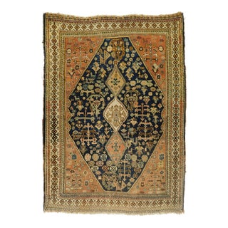 Antique Hand Made Persian Qashqai Rug For Sale