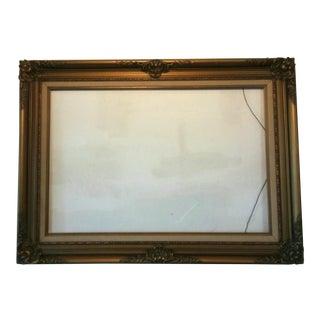 Vintage Mid-Century Gilt Picture Frame For Sale